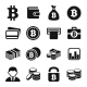 Bitcoin Icons Set - GraphicRiver Item for Sale