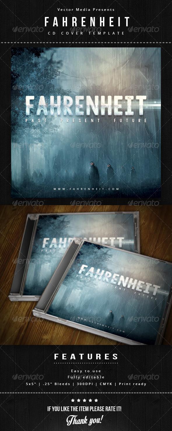 Fahrenheit - Cd Cover - CD & DVD Artwork Print Templates