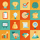 Vector Business Concepts in Flat Retro Style  - GraphicRiver Item for Sale