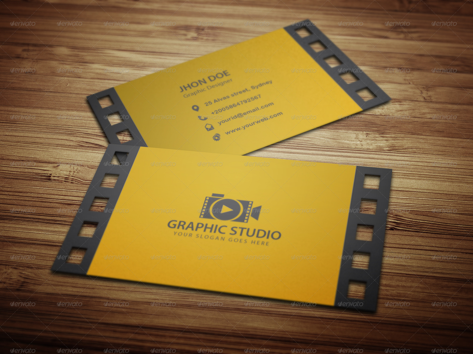 Filmography Business Card Template by kazierfan | GraphicRiver