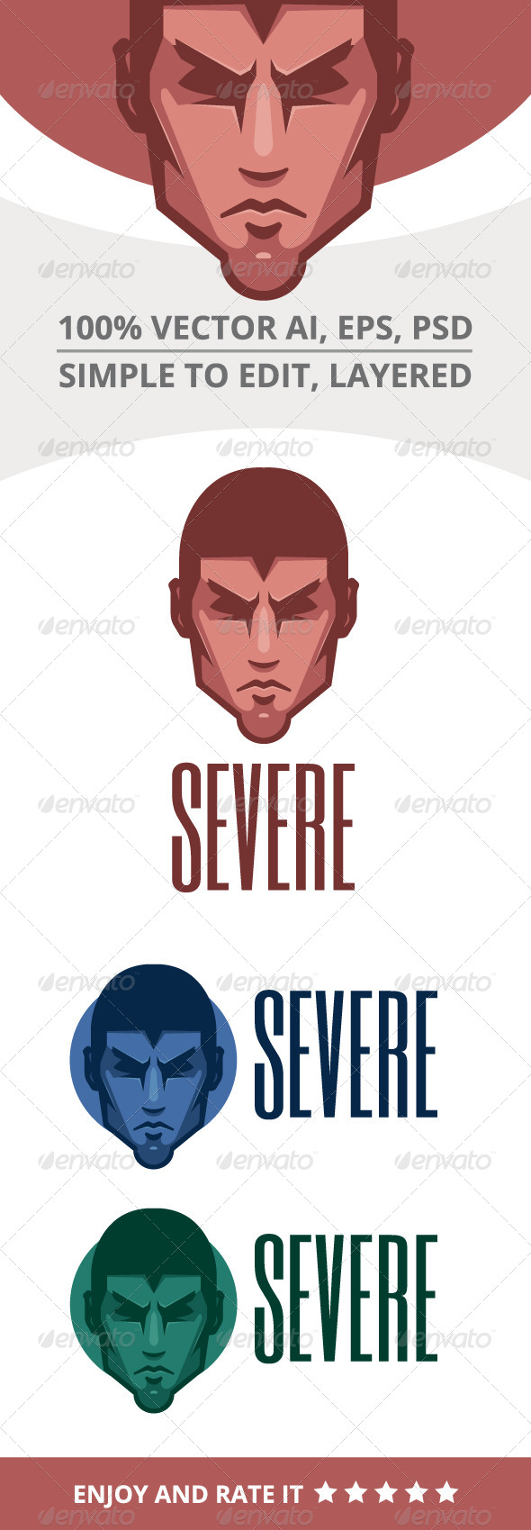 Severe - Humans Logo Templates