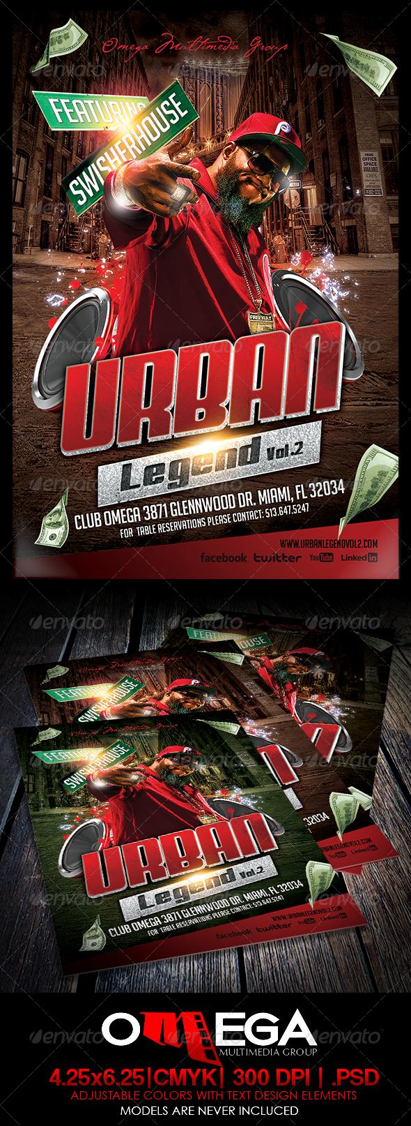 Urban Legend Vol.II - Events Flyers