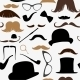 Seamless Pattern Mustache - GraphicRiver Item for Sale