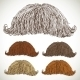 Classic Retro Lush Mustache Set - GraphicRiver Item for Sale
