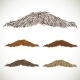 Classic Retro Thin Mustache Set - GraphicRiver Item for Sale