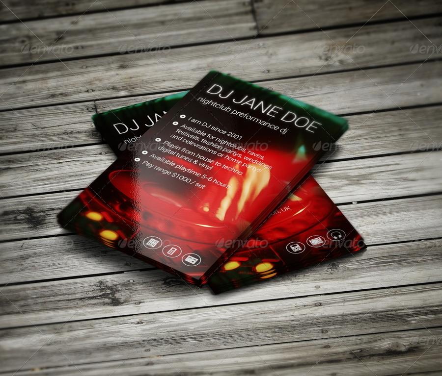 Hot Dj Business Card