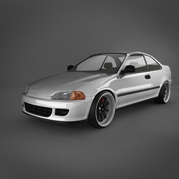 Honda Civic V EJ (Coupe)  - 3DOcean Item for Sale