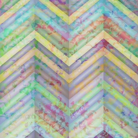Abstract Retro Vector Striped Background - Backgrounds Decorative