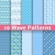 Wave Different Seamless Patterns - GraphicRiver Item for Sale