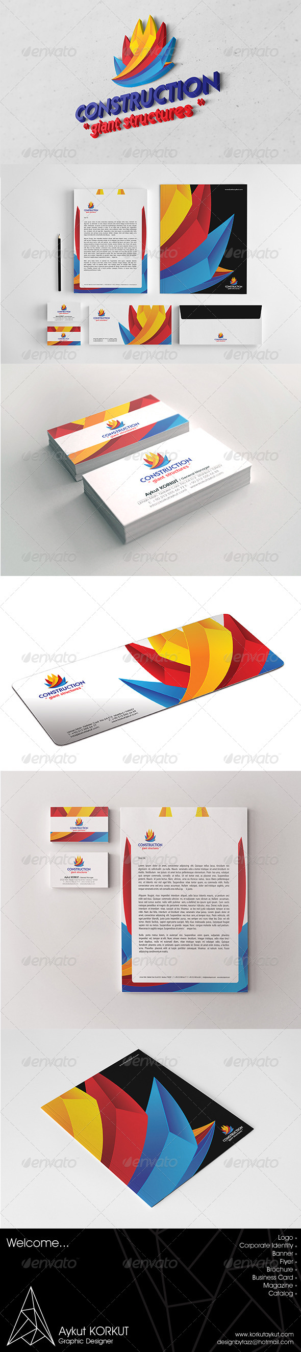 Construction Corporate Identity Package - Stationery Print Templates