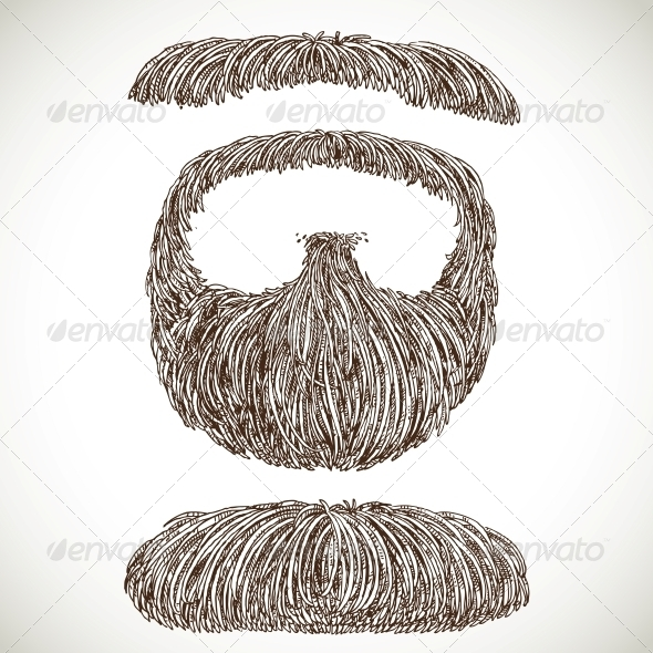 Lush Retro Mustache and Beard - Miscellaneous Characters