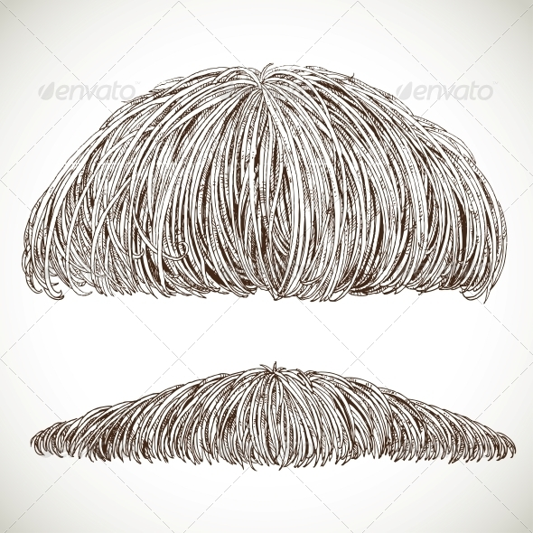 Lush Retro Mustache - Miscellaneous Characters