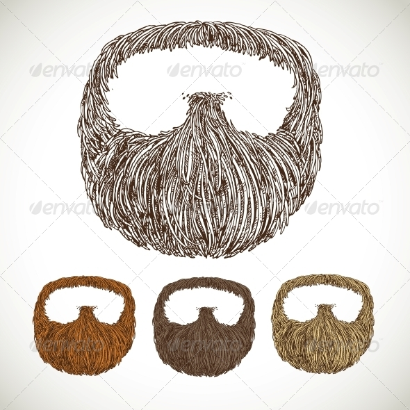 Neat Beard in Color Variations - Miscellaneous Characters