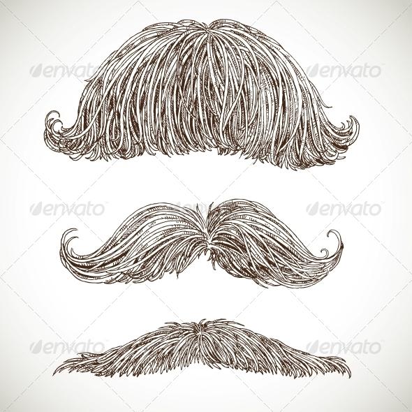 Retro Mustache Set - Miscellaneous Characters