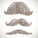 Retro Mustache Set - GraphicRiver Item for Sale