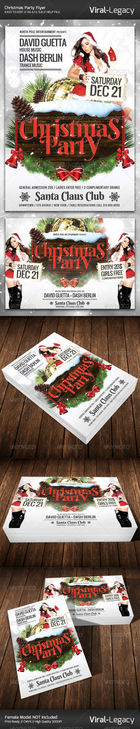 Christmas Party Flyer - Flyers Print Templates
