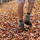 Steps Through Autumn Leaves on Trail - VideoHive Item for Sale