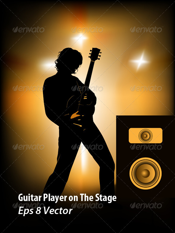 Guitar Player - Conceptual Vectors