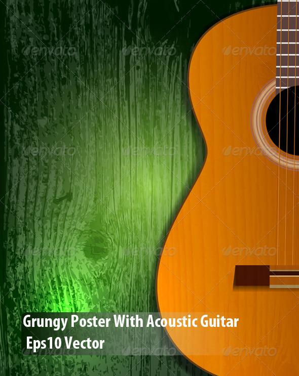 Guitar Poster - Conceptual Vectors