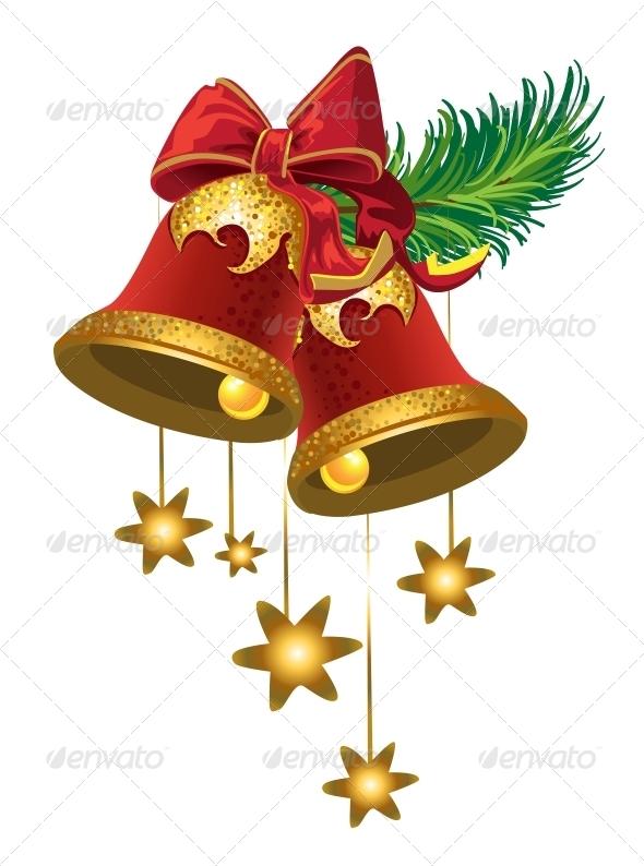 Christmas Bells with Stars - Christmas Seasons/Holidays