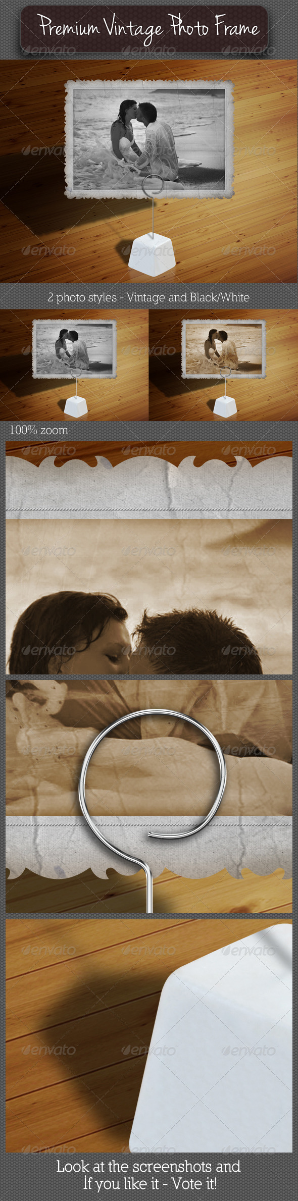 Premium Vintage Photo Frame 02 - Artistic Photo Templates