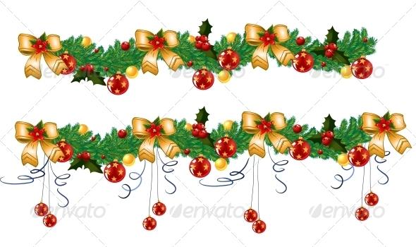 Christmas Garland, Vector - Christmas Seasons/Holidays