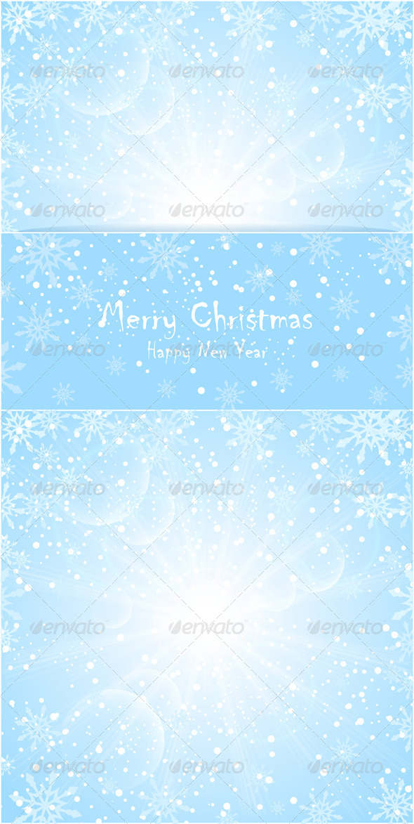 Merry Christmas Background with Sun Snowflakes - Seasons/Holidays Conceptual
