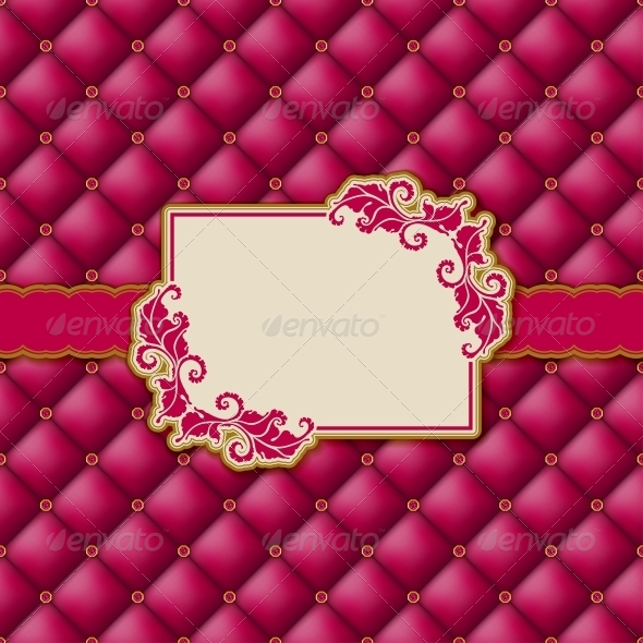 Template Frame Design for Greeting Card . - Backgrounds Decorative