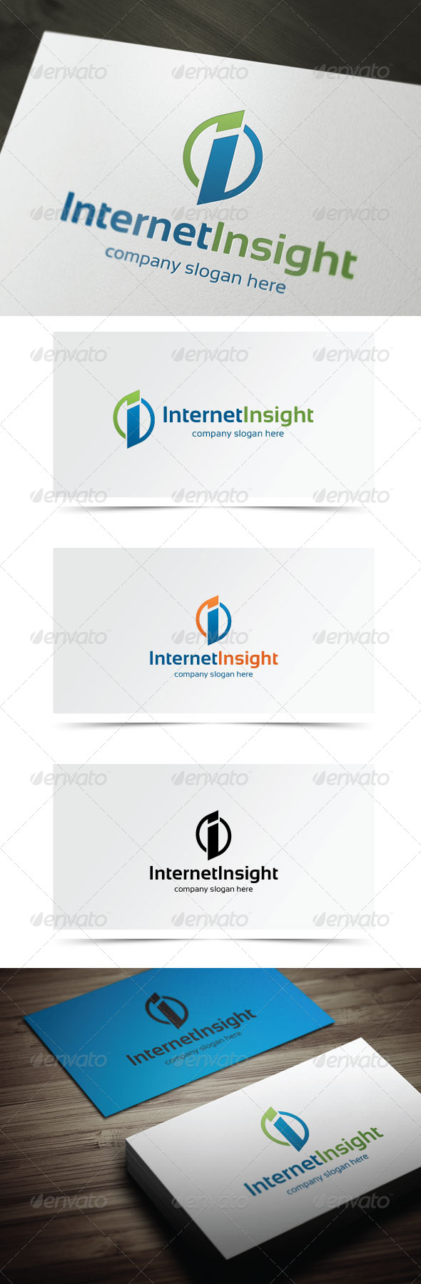 Internet Insight - Letters Logo Templates