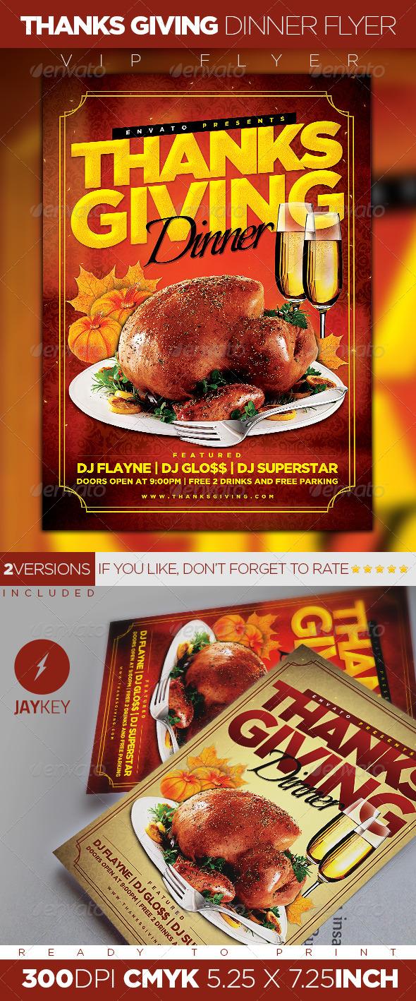 thanksgiving dinner flyer by 1jaykey graphicriver. Black Bedroom Furniture Sets. Home Design Ideas