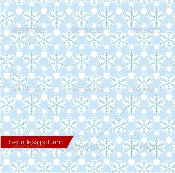 Snowflakes Seamless Pattern, Vector - Christmas Seasons/Holidays