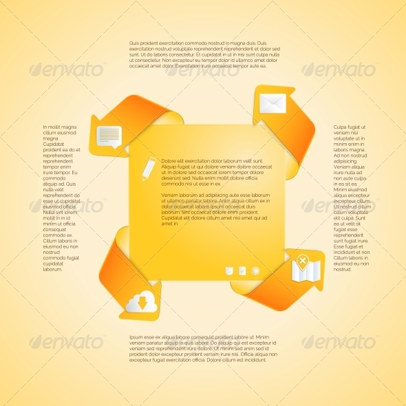 Infographics Template. Four Options Vector. - Web Technology
