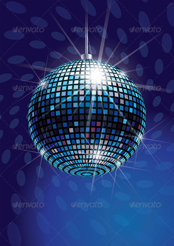 Mirror Disco Ball Vector - Objects Vectors
