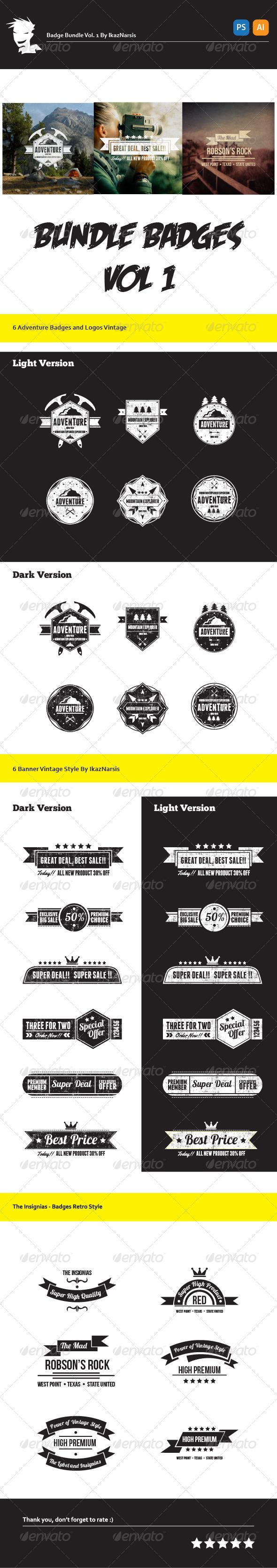 Bundle Badge, Logo & Insignia - Badges & Stickers Web Elements