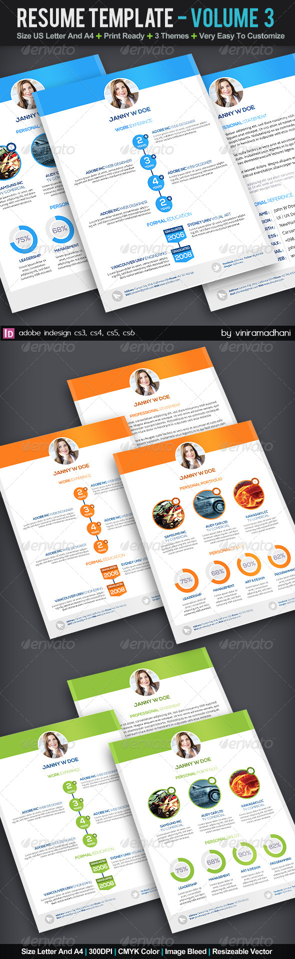 Resume Template | Volume 3 - Resumes Stationery