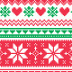 Nordic Seamless Knitted Christmas Red and Green  - GraphicRiver Item for Sale