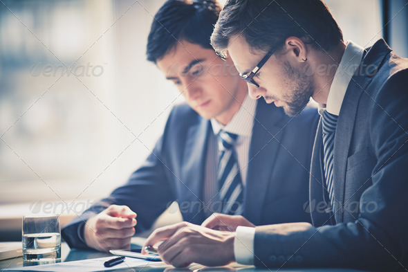 Discussing project - Stock Photo - Images