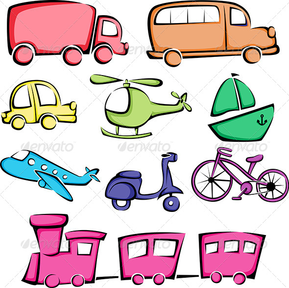 Transportation Vehicles Icons - Icons