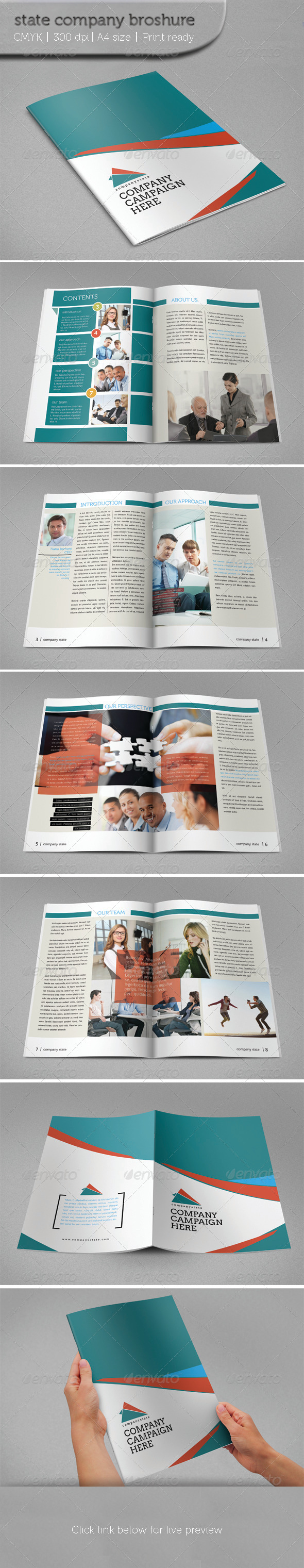 State Company Brochure - Brochures Print Templates