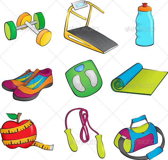 Exercise Equipment Icons - Icons