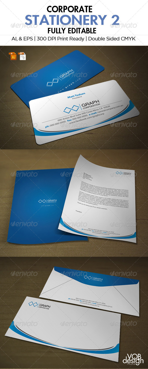 Corporate Stationery 2 - Stationery Print Templates