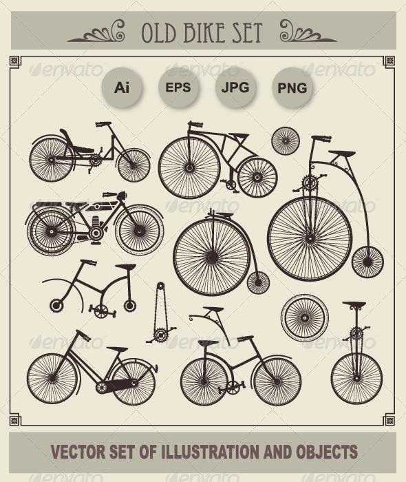 Set of Retro Bikes - Retro Technology