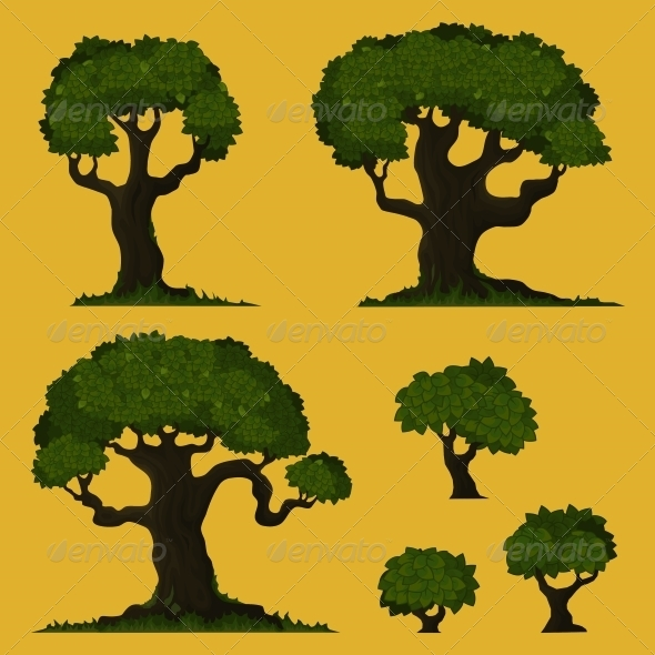 Tree Vector Set - Flowers & Plants Nature
