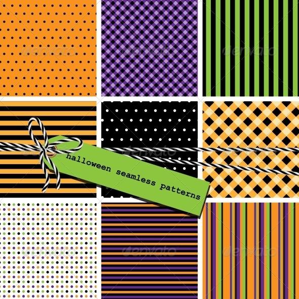 Halloween Seamless Patterns - Patterns Decorative