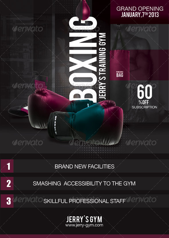 Flyer Boxing Training Gym - Sports Events