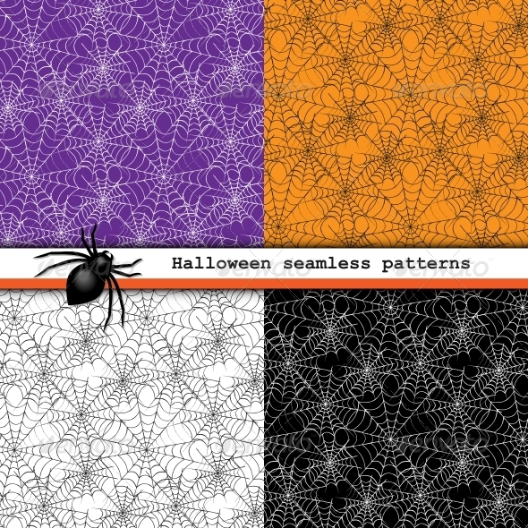 Spider Web Seamless Patterns - Patterns Decorative