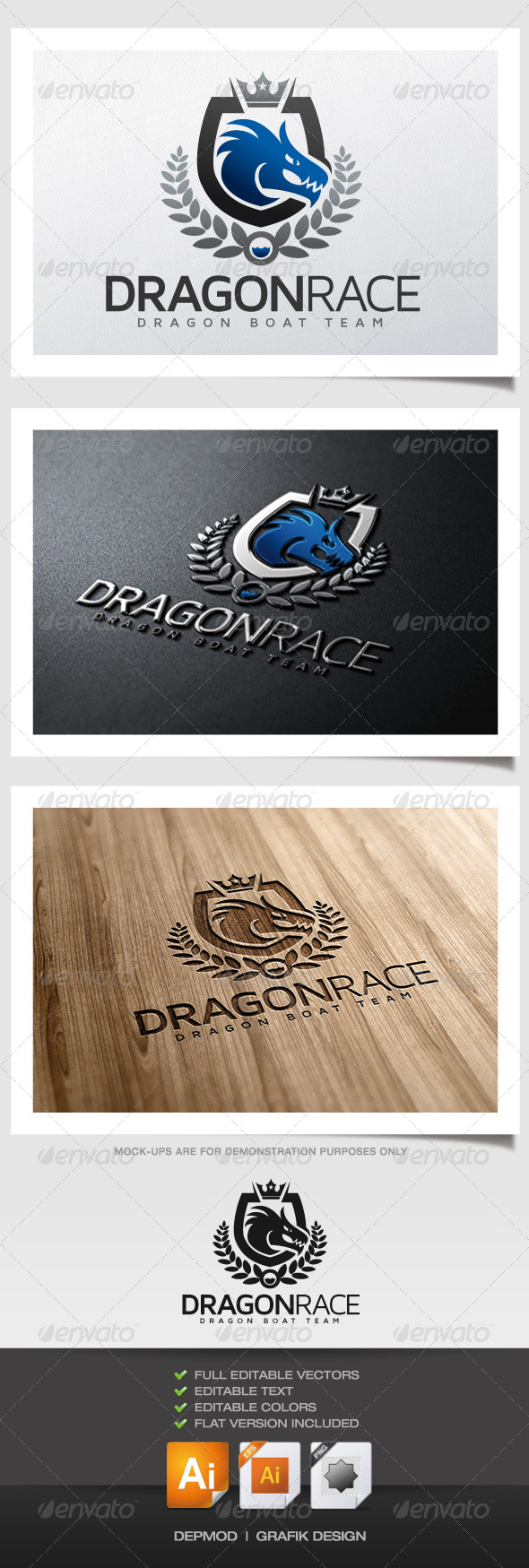 Dragon Race Logo - Crests Logo Templates