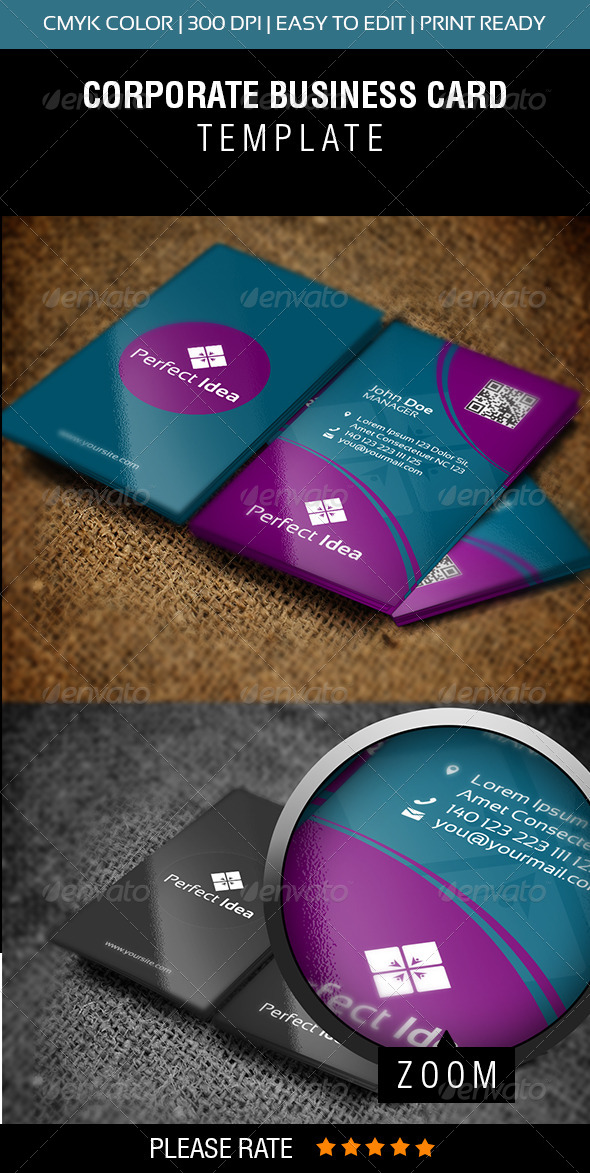 Perfect Idea Business Card - Corporate Business Cards