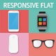 Responsive Vector Flat Devices Pack - GraphicRiver Item for Sale