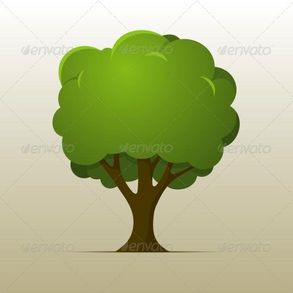 Cartoon Tree - Flowers & Plants Nature